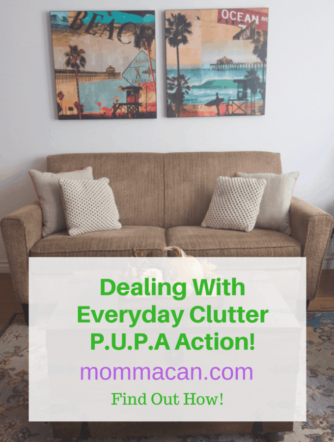 Dealing With Everyday Clutter – PUPA Action