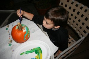Halloween Pumpkin Painting