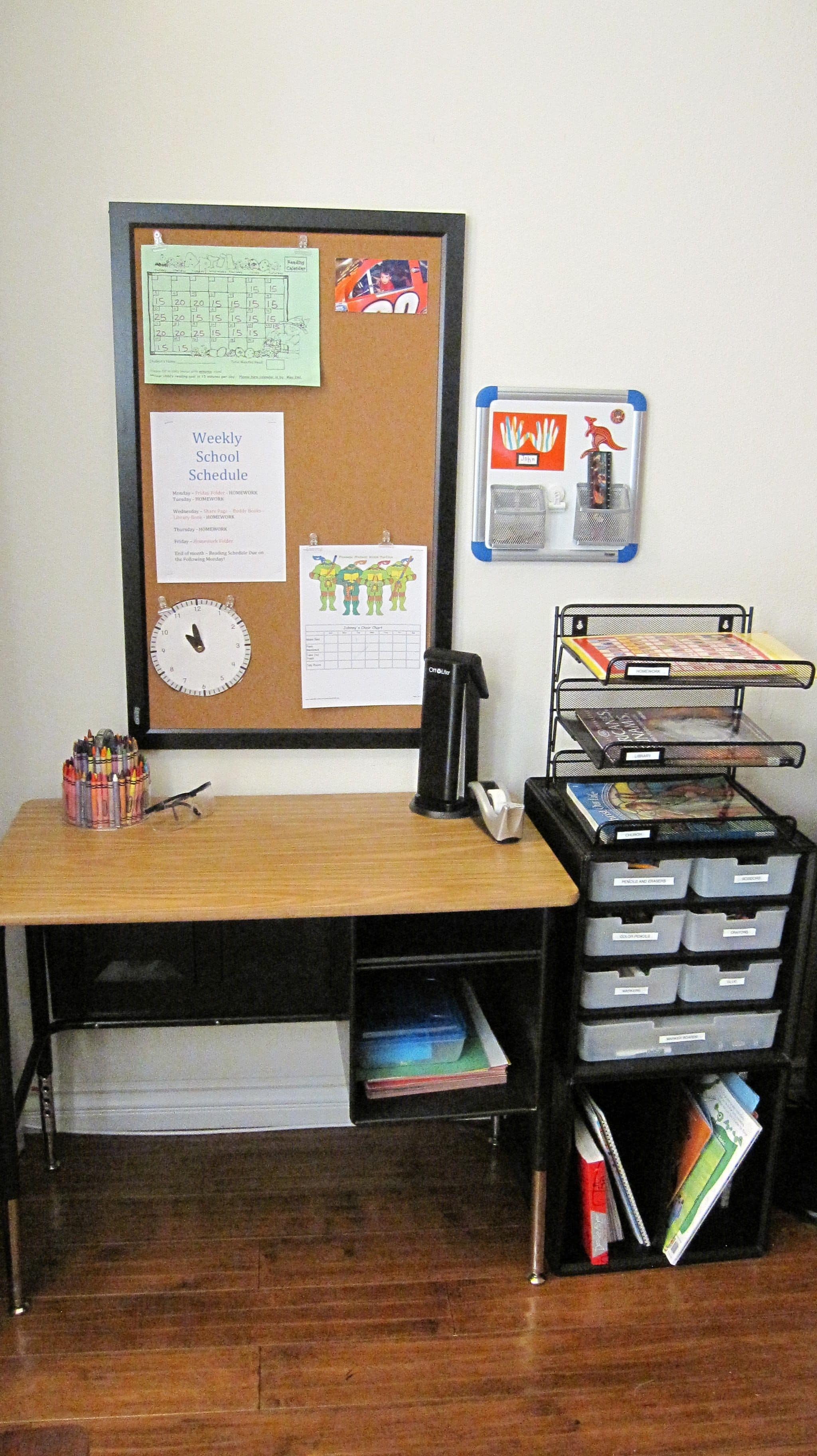 My Little Guy's Work Station – Organized