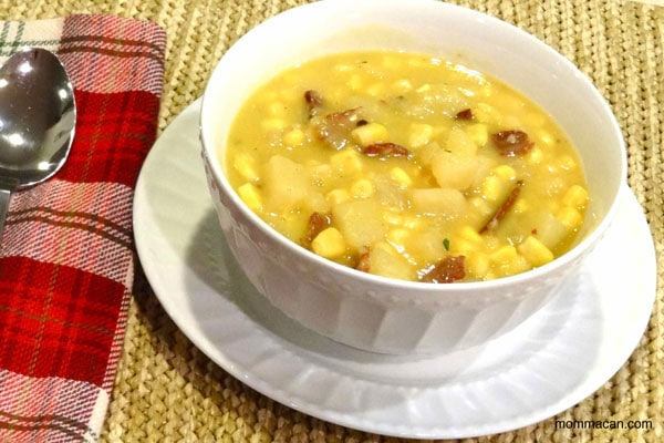 Super Easy Kid Friendly Crockpot Corn Chowder