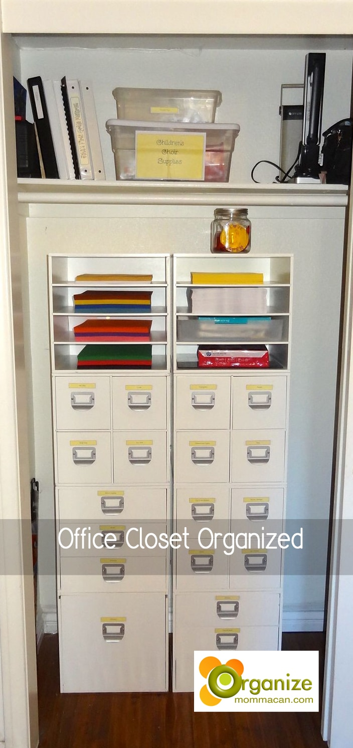 Office Closet Organized