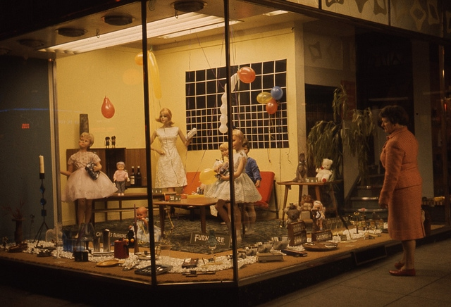vintage window display