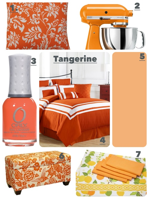 Just A Few Tangerine Accents and Items