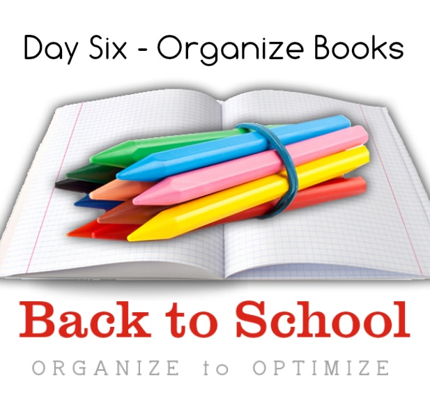 Back to school organize books momma can