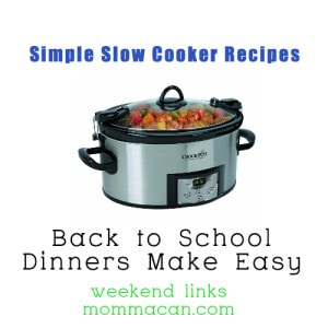 back to school slow cooker recipes links