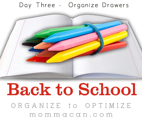 back to school organize drawers