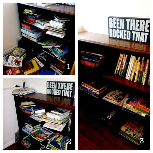 Messy Book Shelf Challenge Results