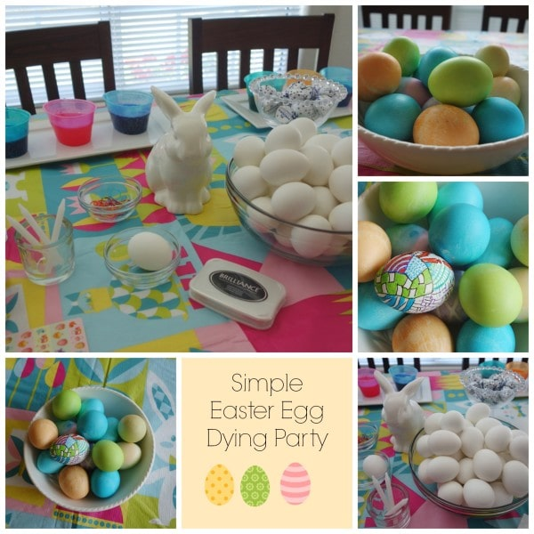 Simple Easter Egg Dying Party