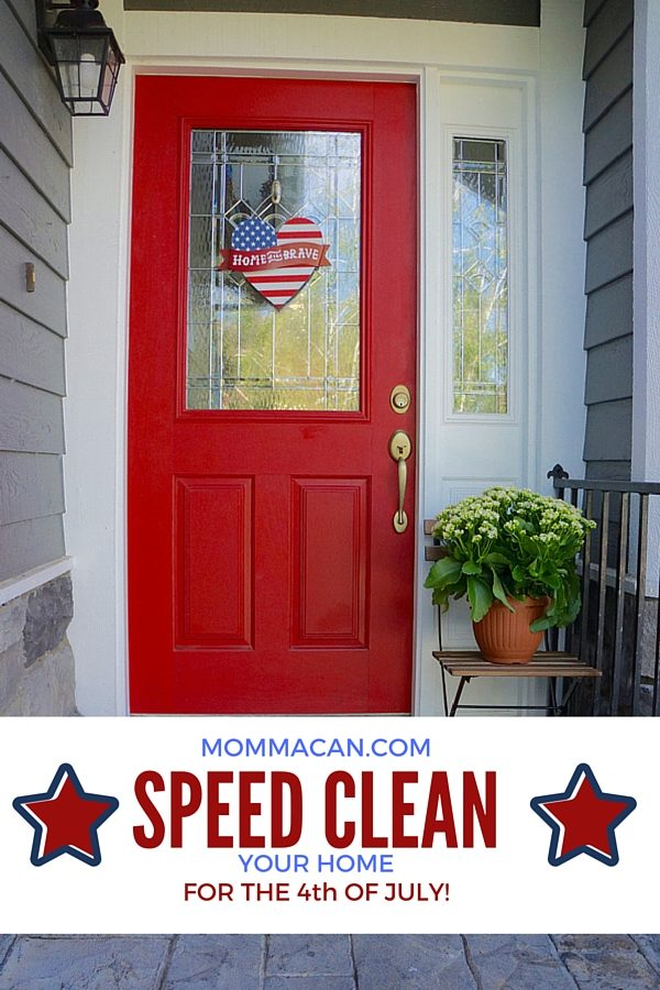 Speed Clean Your Home for the Fourth of July