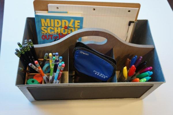 second shot filled school toool box