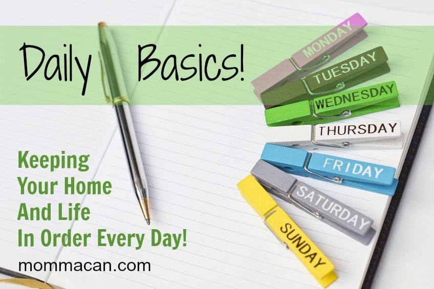 Daily Basic Routines – Cleaning List- Free Printable for Your Home
