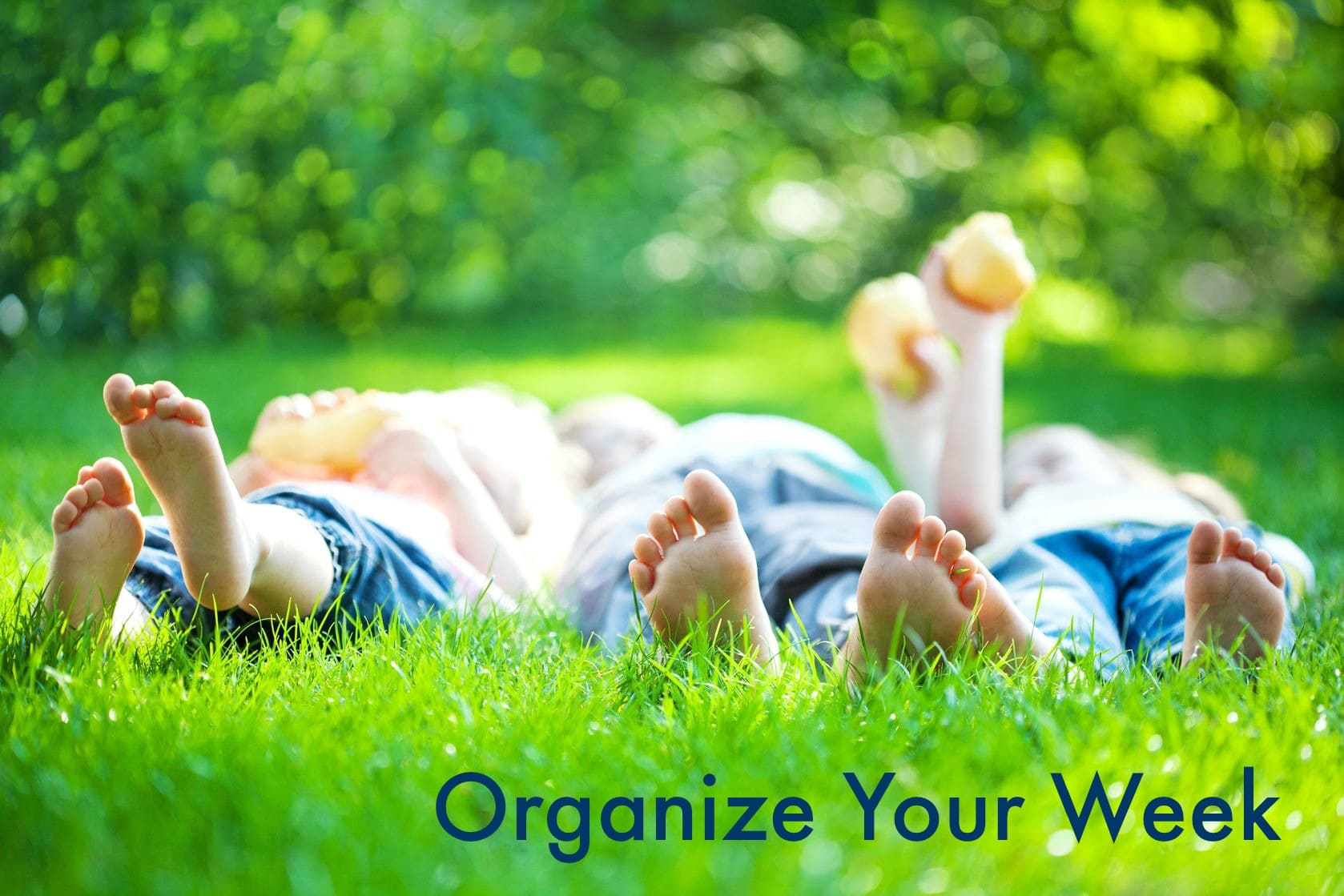 Organize Your Week, Menu Plan, Clean List and  Outdoor Inspiration
