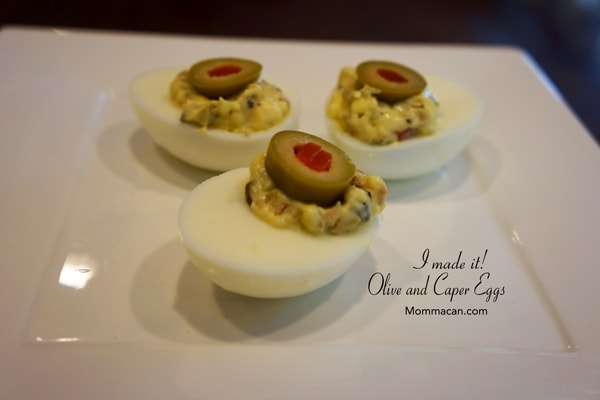 Green Olives, Capers and Dijon – Deviled Eggs Gone Yum
