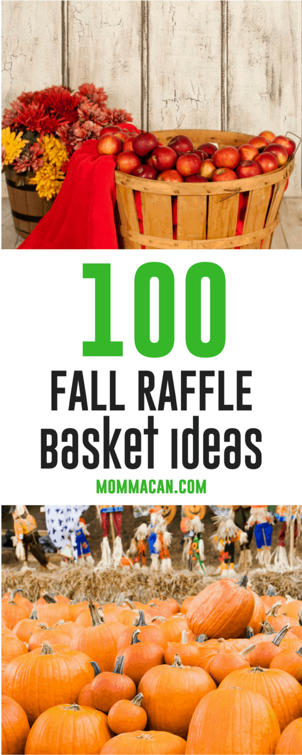 Fall Festivals are just around the corner. Grab these 100 Fall Raffle Basket Ideas