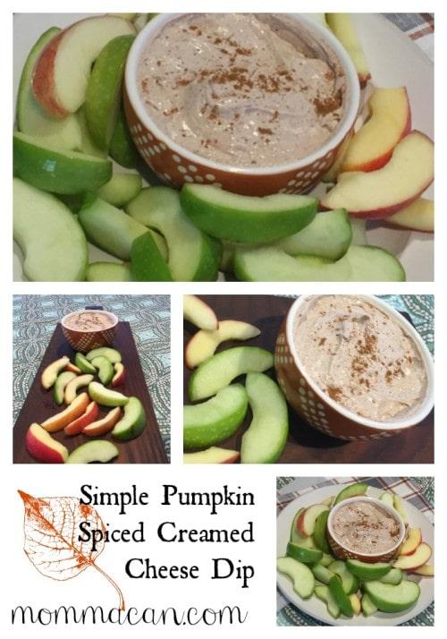 Simple Pumpkin Spiced Creamed Cheese Dip