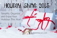 Menu Plan for the Week and Holiday Shine Updates