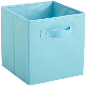 Light Blue Fabric Drawer for Cubicle Storage