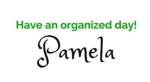get organized. get happy Pamela List - Mommacan.com