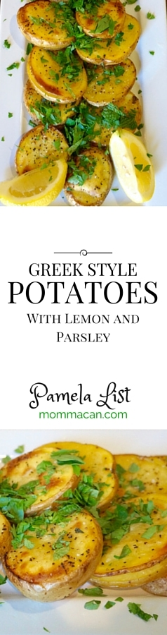 Recipe Greek Style Potatoes from Mommacan.com