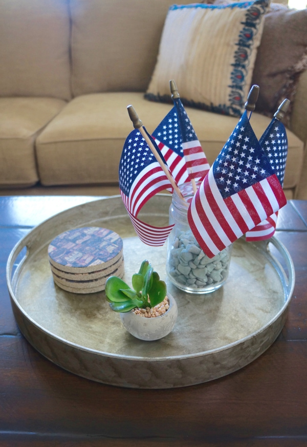4th of July Decortaions - Round Serving Tray
