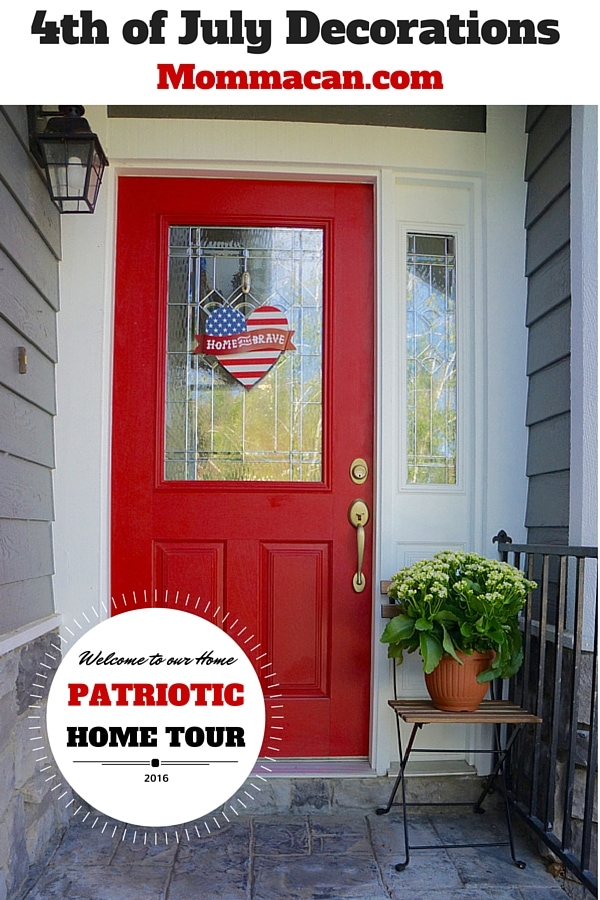 4th of july decorations patriotic home tour momma can patrotic house decorations best house design ideas