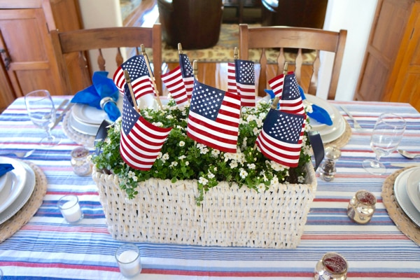 4th of July Decorations - American Flag Center Piece