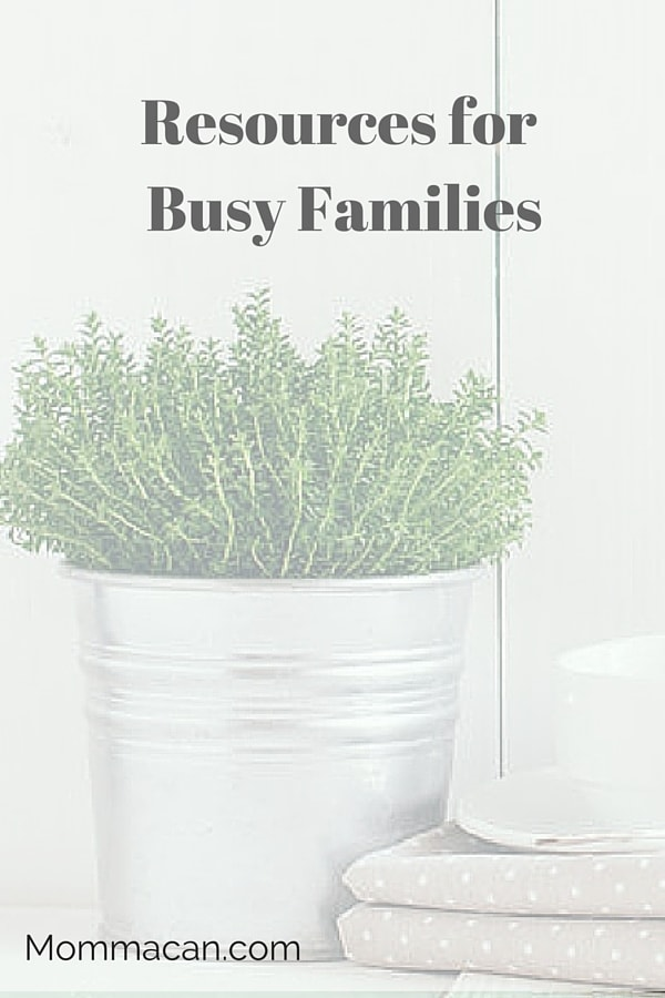 Resources, Links and More for Busy Families