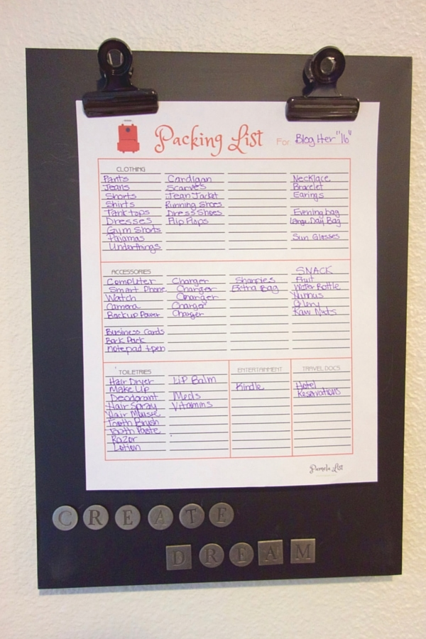 Printable Packing List Free for your to plan your next trip with ease.