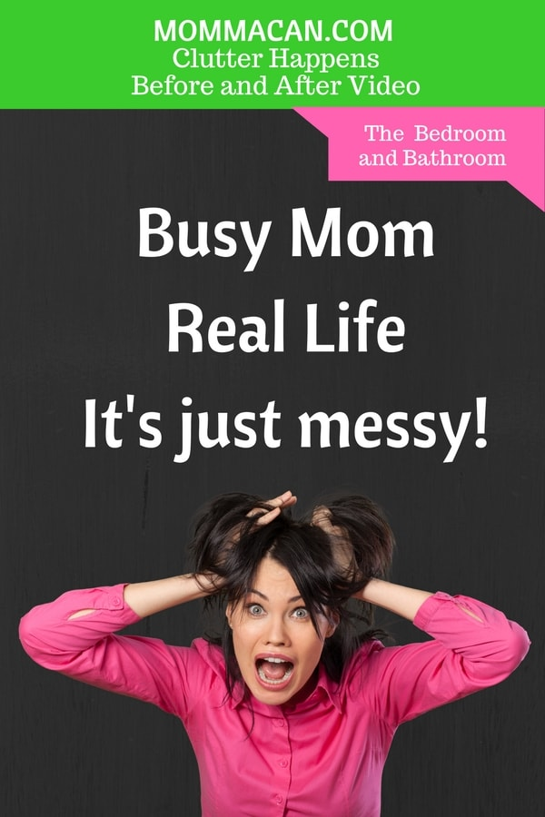Love learning how to conquer clutter with a timer and a postive attitude. Real Life, Real Mess Before and After Video