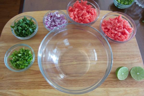 Ingrediends for Watermelon Salasa Recipe - mommacan.com