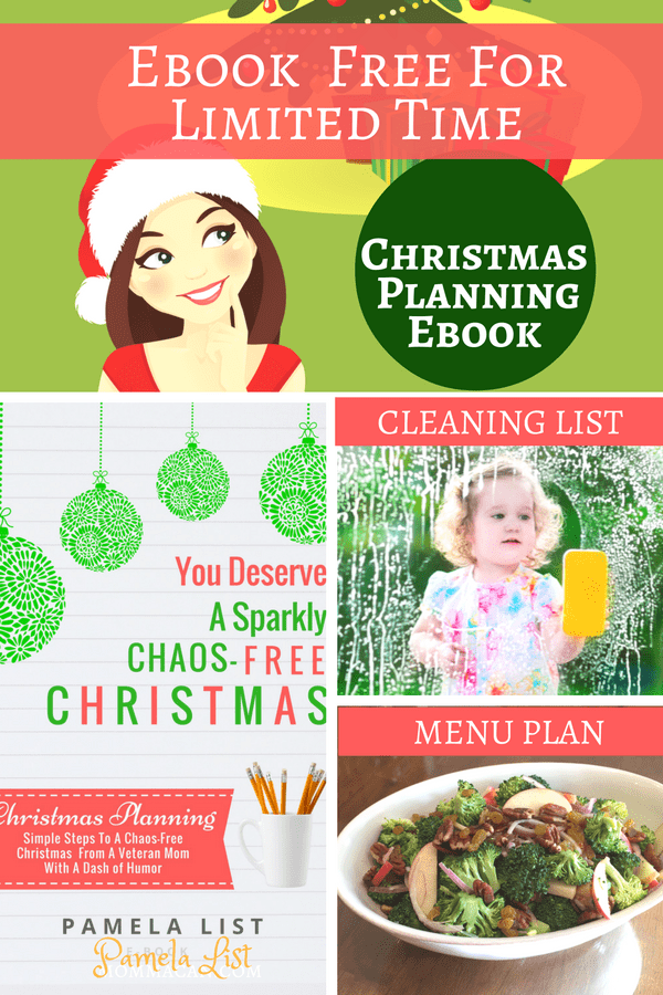 Menu Plan, Cleaning List and Christmas Planning Ebook