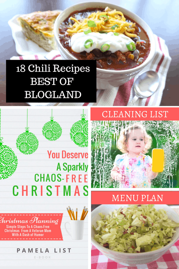 18 Chili Recipes and Menu Plan!