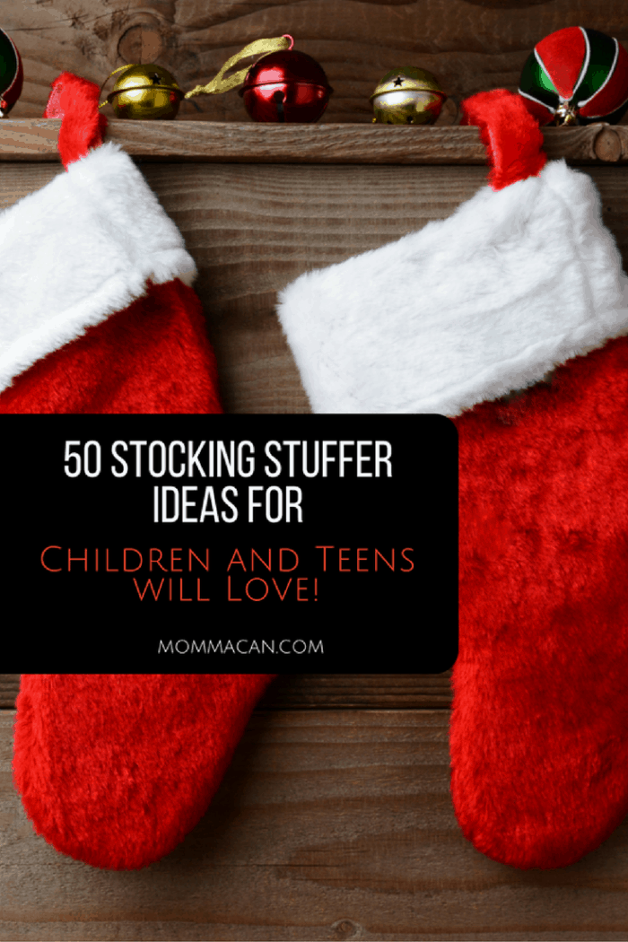 50 Christmas Stocking Stuffer Ideas Children and Teens will Love - Mommacan.com