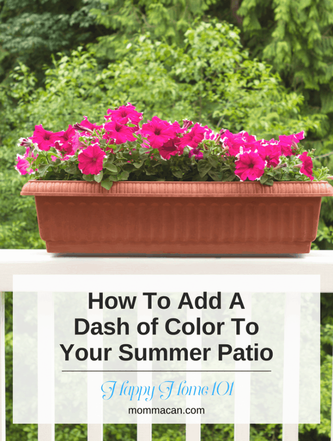 How To Add A Dash of Color To Your Summer Patio