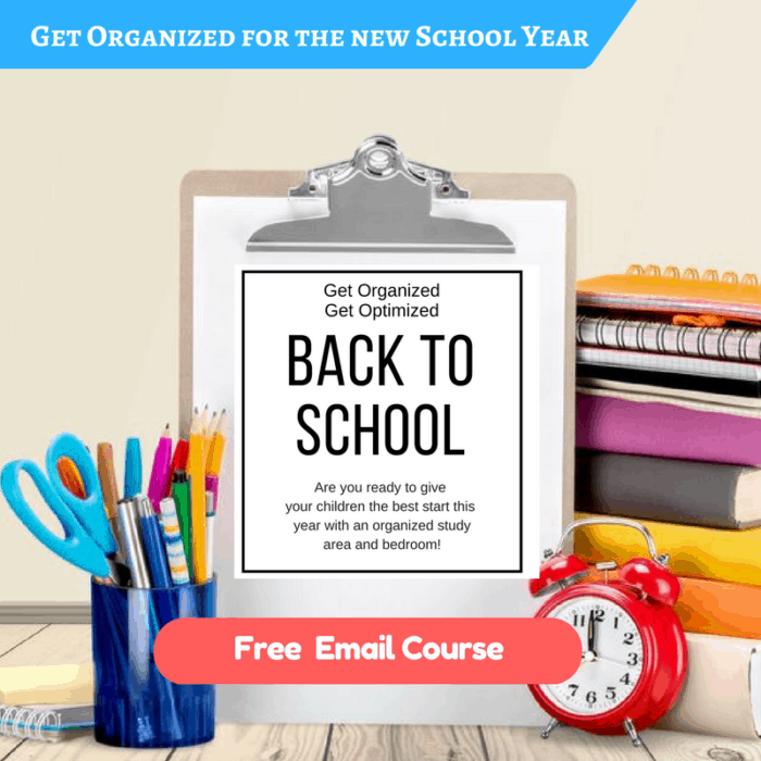 Get your bedroom and study area organized for back to school!