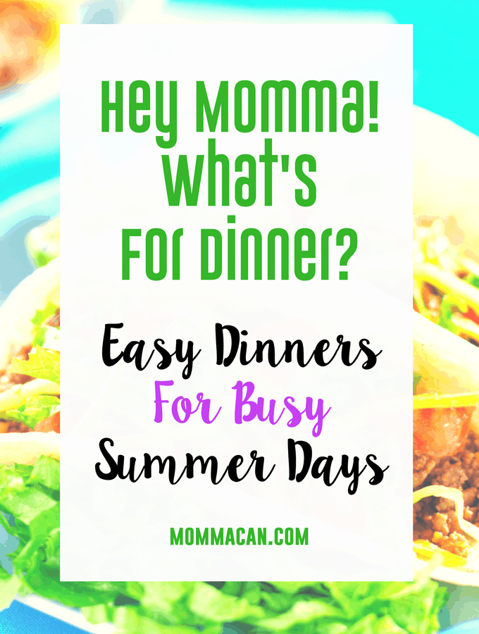 Find out how a taco bar or potao bar can make meal planning easy this summer!