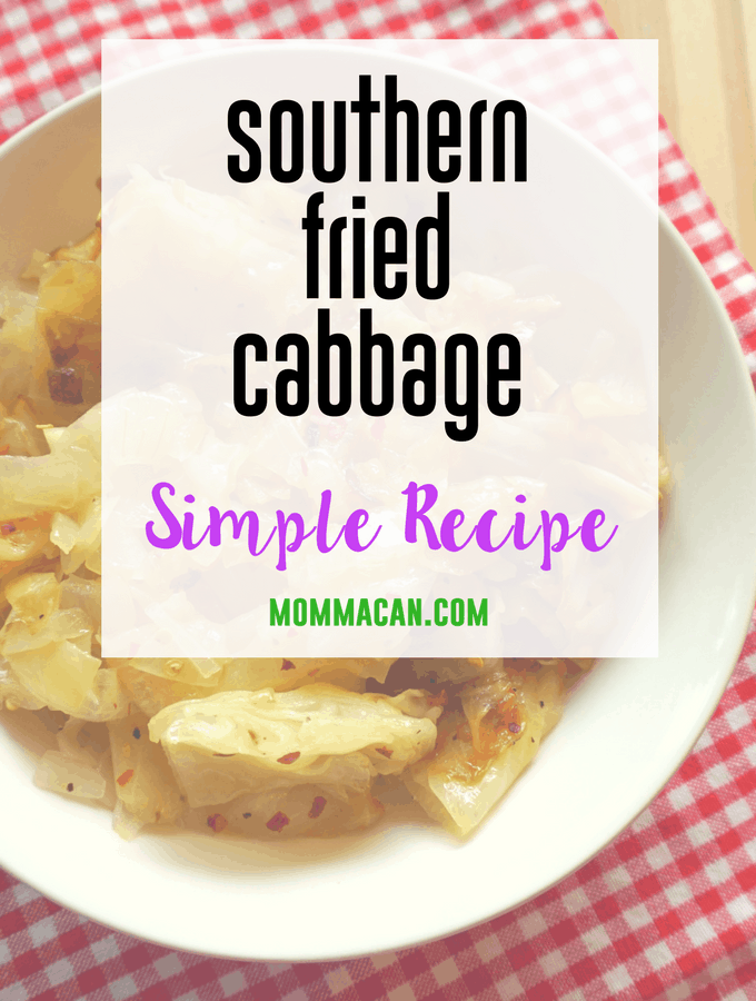 Grab this super simple but awesome recipe for Southern Fried Cabbage with Onions. So darn Good Ya'll!