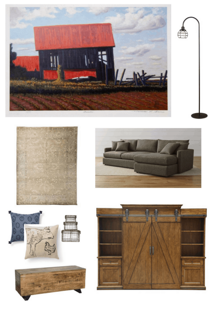 Industrial Farmhouse Style Living Room