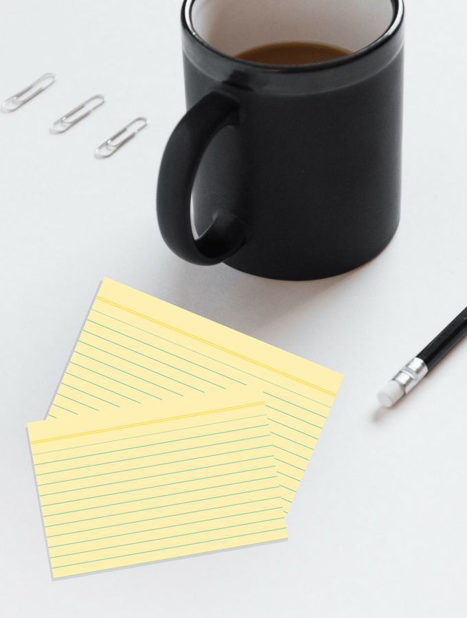 Learn How To Organize Your Day With Index Cards