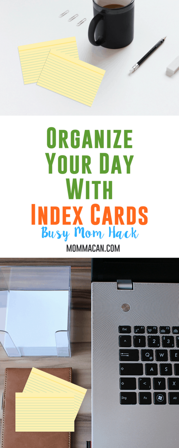 Life is crazy busy for working moms, new moms, school moms etc. Learn How To Organize Your Day With Index Cards . These cards have b een a tried and true method for many busy moms! #organizeyourday #organize #busymom