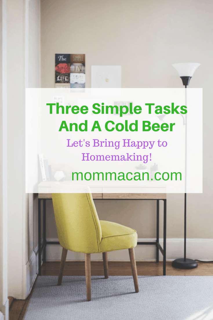 Moms don't need more to do when they are tired, they need a shorter to do list and a cold beverage.