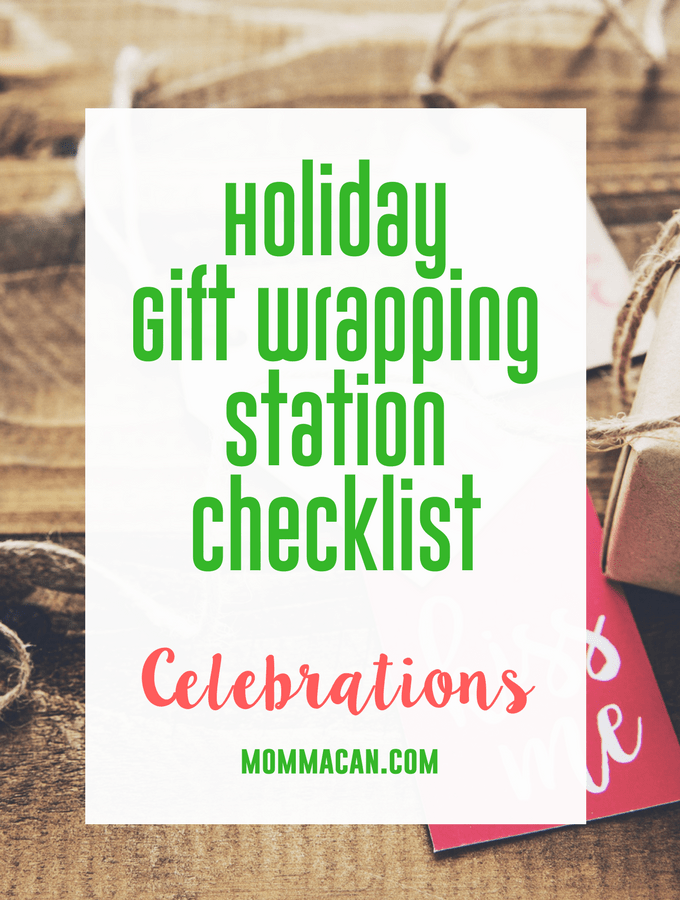 Holiday Gift Wrapping Station Checklist