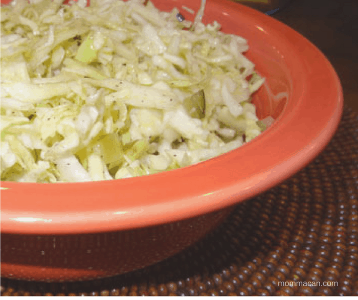 Southenr Style Bread and Butter Pickle Slaw