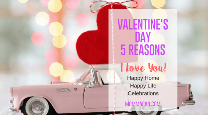 Valentine's Day 5 Reasons I Love You