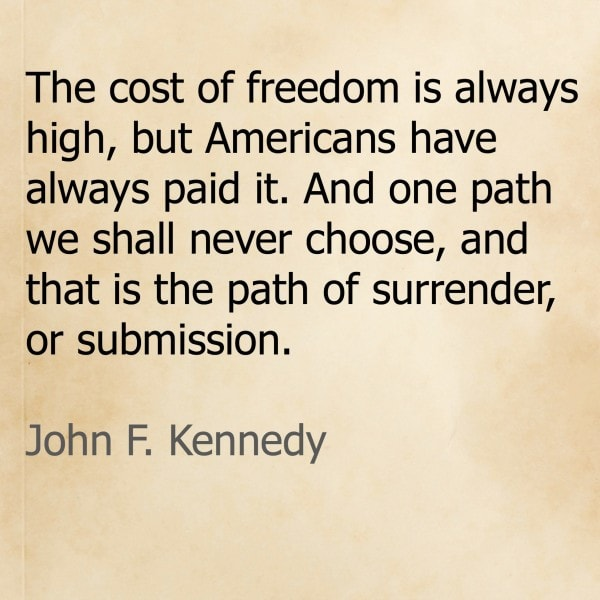 John F. Kennedy on Freedom