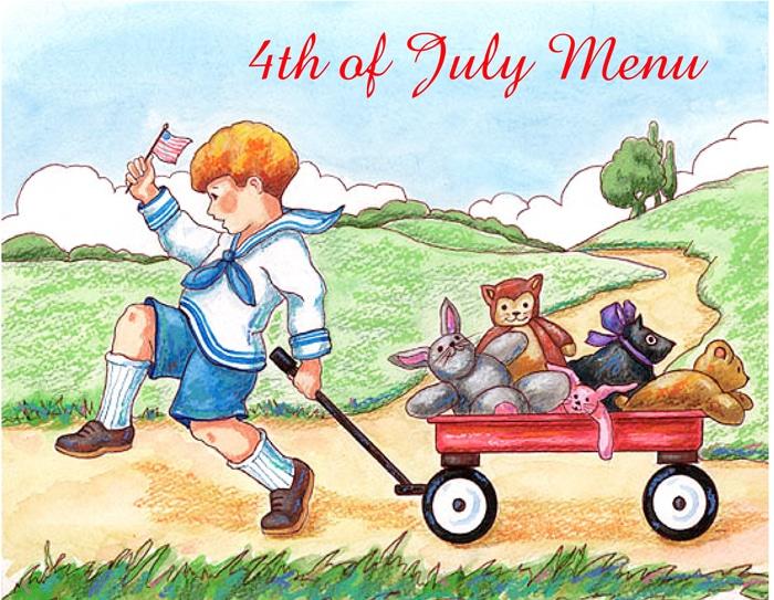 Fourth of July Menu