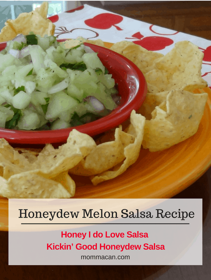 Grab this Kickin Honeydew Melon Salsa Recipe for your next Summer Picnic, BBQ, or Party. So darn good.