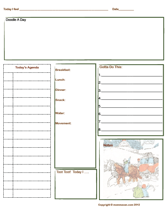 image regarding Daily Planner Page referred to as No cost Printable Every day Planner Web site for Winter season Vacations with