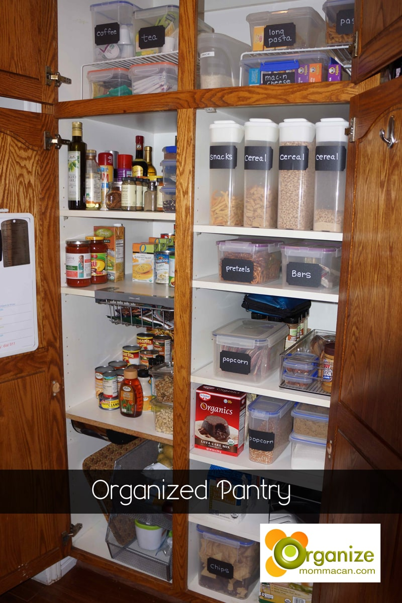 How To Organize A Pantry with Before and After Shots