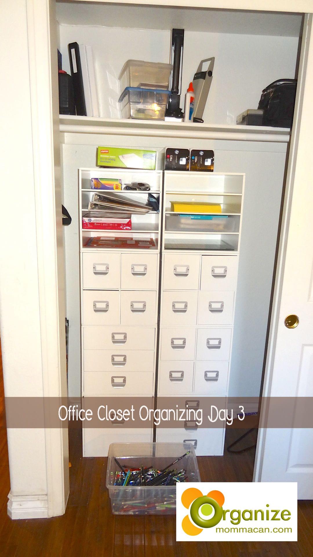 Day 3 Of Organizing My Office Closet
